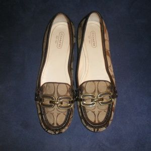 Coach Brown Signature ELLA Loafers/Shoes Sz 7B